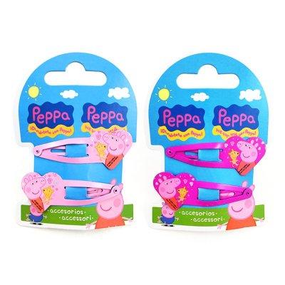 Set 2 clips corazón de pelo Peppa Pig surtido 2 modelos