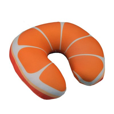 Cojín viaje micro bolitas Naranja