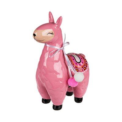 Hucha cerámica Lama - rosa