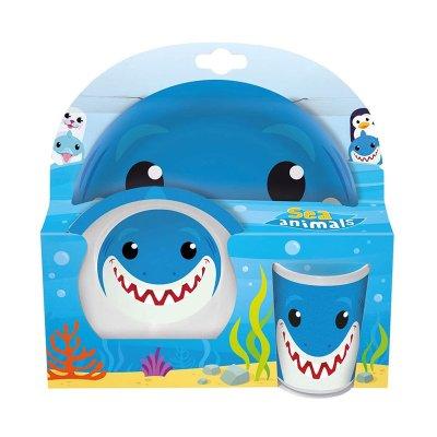 Set desayuno plástico Baby Shark