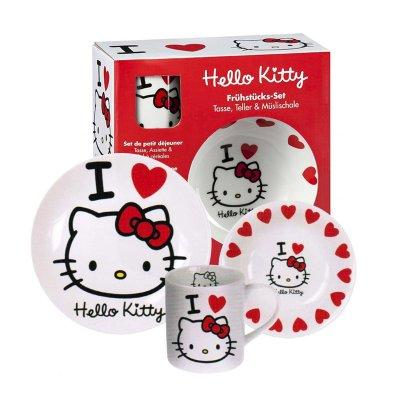 Set desayuno 3 piezas cerámica Hello Kitty