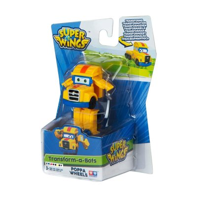 Figura Super Wings Transform a Bots - modelo Poppa