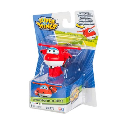 Figura Super Wings Transform a Bots - modelo Jett