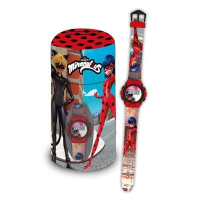 Set reloj digital y hucha cubilete de Prodigiosa Ladybug