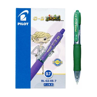 Bolígrafo Pilot G2 XS Pixie verde 0.7mm
