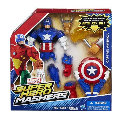 Figura Capitán América Marvel Super Hero Mashers Upgrade 15cm