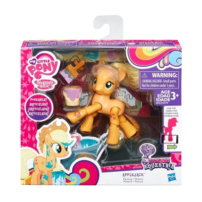 Figura articulada My Little Pony - modelo Applejack pintora