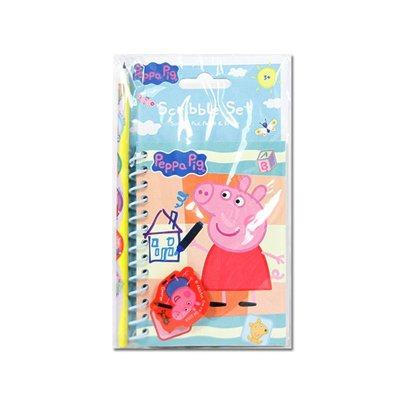 Wholesaler of Peppa Pig scribble set: pad + pencil + eraser