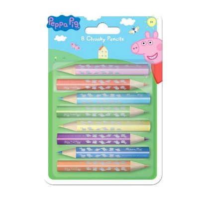 Peppa Pig 8 chunky colour pencils