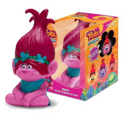 Lámpara figura 3D 13cm Poppy Trolls