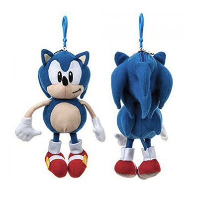 Peluche llavero monedero Sonic 18cm