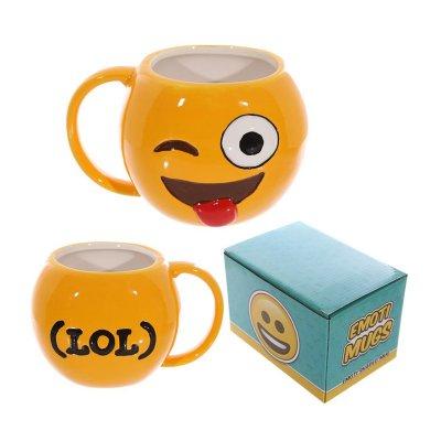 Taza cerámica Emoji Guiño con Burla
