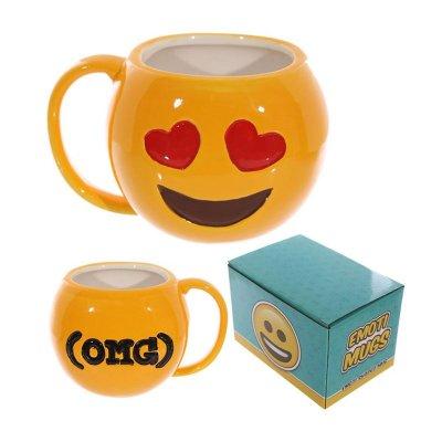 Taza cerámica Emoji Ojos de Corazon