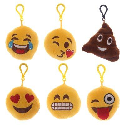 Llaveros peluche con sonido emoji 8cm 6 modelos
