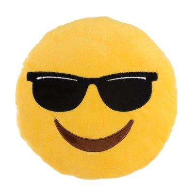 Cojín peluche emoji gafas 27cm