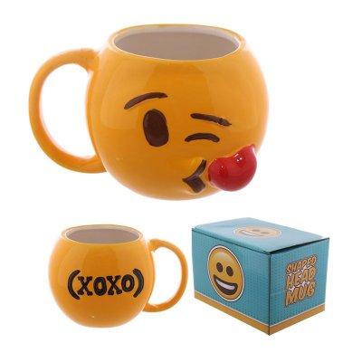 Taza cerámica Emoji Tirando Besos