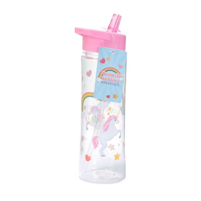 Botella de agua 500ml Unicornio Arco Iris