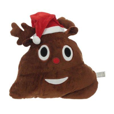 Cojín peluche emoji caquita reno navidad 30cm