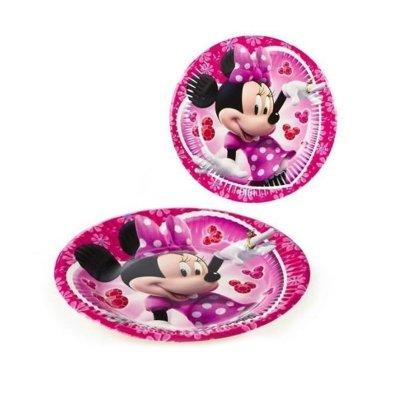 Wholesaler of 8 platos desechables 23cm Minnie Disney