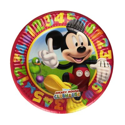 8 platos desechables 23cm Mickey Club House