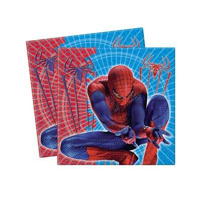Paquete 20 servilletas 33x33cm Spiderman