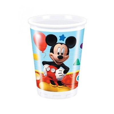 8 vasos de plástico desechables 200ml Mickey Club House