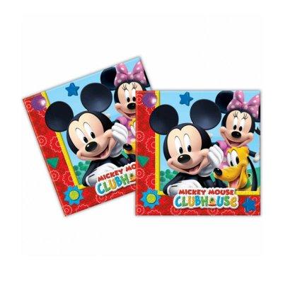 Paquete 20 servilletas 33x33cm Mickey Club House