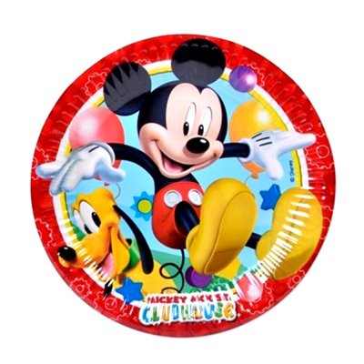 8 platos desechables 23cm Mickey ClubHouse