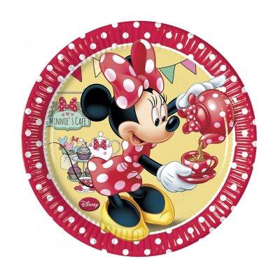 8 platos desechables 20cm Minnie Mouse Cafe