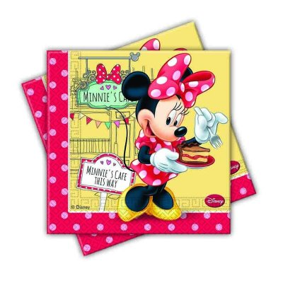 Paquete 20 servilletas 33x33cm Minnie`s Cafe