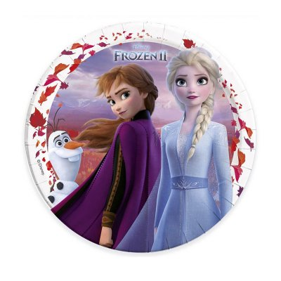 8 platos desechables 23cm Frozen 2 Disney