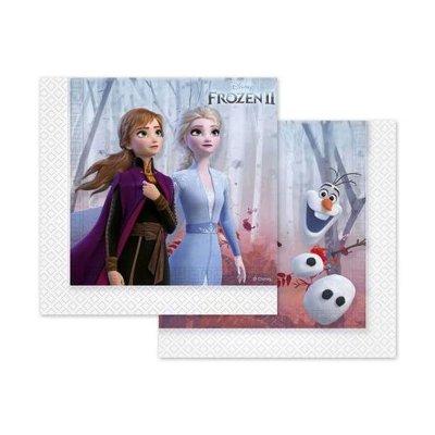 Paquete 20 servilletas 33x33cm Frozen 2 Disney