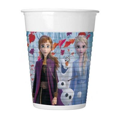 8 vasos de plástico desechables 200ml Frozen 2
