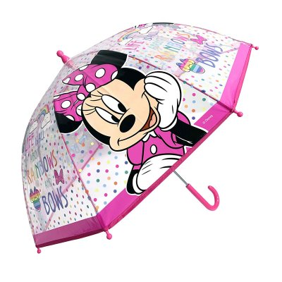 Paraguas transparente manual Minnie Mouse 45cm