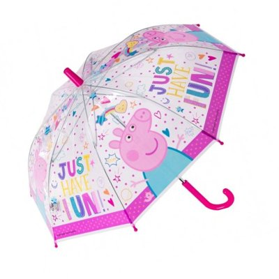 Paraguas transparente manual Peppa Pig 45cm