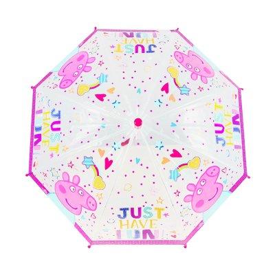 Paraguas transparente manual Peppa Pig 30cm