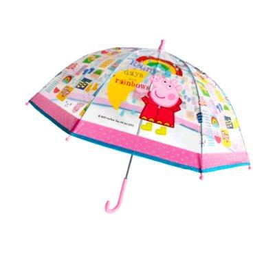 Paraguas cúpula transparente manual Peppa Pig 45cm