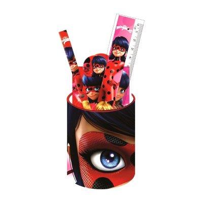 Set cubilete portalápices con 6 accesorios Prodigiosa Ladybug (Miraculous)