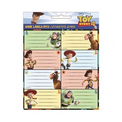 16 etiquetas adhesivas nombre Toy Story 4