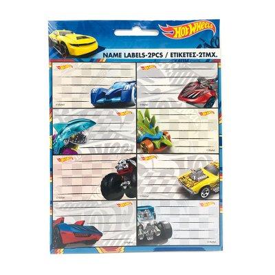Wholesaler of 16 etiquetas adhesivas nombre Hot Wheels