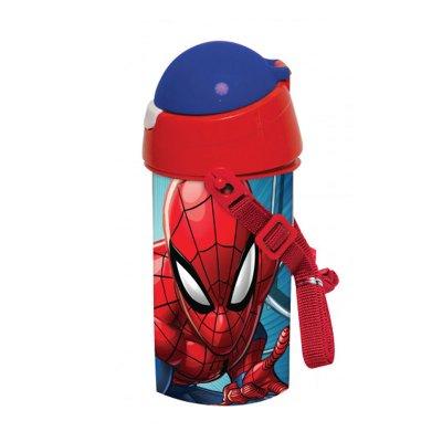 Botella robot pop up 500ml Spiderman