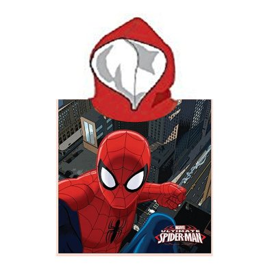 Poncho con capucha Ultimate Spiderman