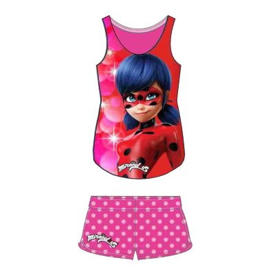 Camiseta tirantes y Short Prodigiosa Ladybug 5 tallas - modelo rosa