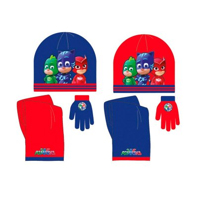 Set gorro bufanda guantes PJ Masks