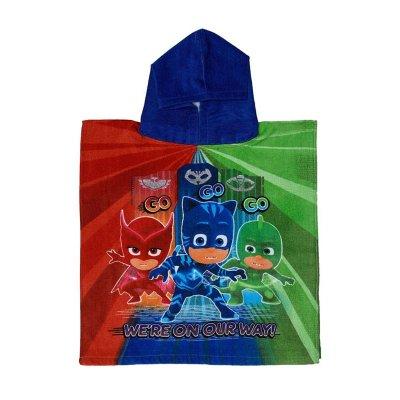 Poncho toalla con capucha algodón PJ Masks Go