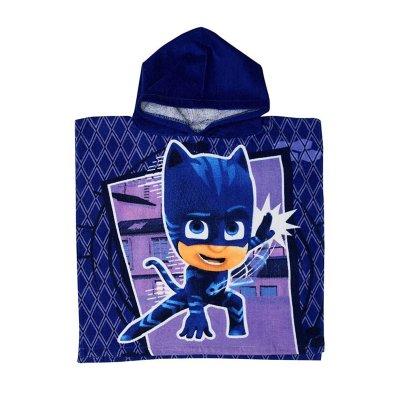 Poncho toalla con capucha algodón PJ Masks Cat-Car