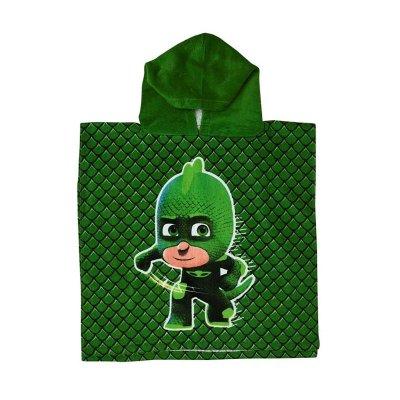 Poncho toalla con capucha algodón PJ Masks Gekko