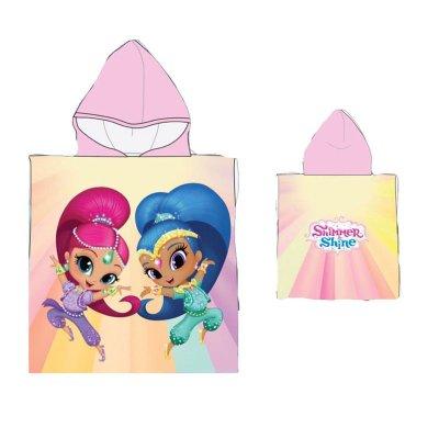 Poncho con capucha toalla microfibra Shimmer & Shine