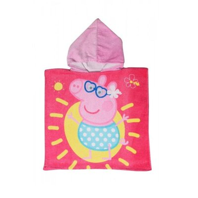 Poncho con capucha toalla microfibra Peppa Pig