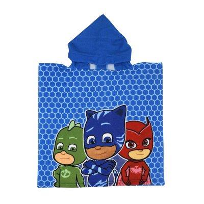 Poncho toalla con capucha microfibra PJ Masks